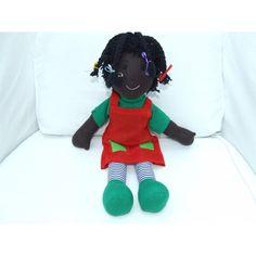 "Cuddly 12"" Rag Doll - African Girl Stuffed Animals, Dinosaur Stuffed Animal, African Girl, Rag Dolls, Toys, Fabric Dolls, Activity Toys, Cloth Art Dolls, Clearance Toys"