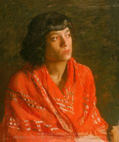 Painting Reproduction of The Red Shawl, Thomas Eakins