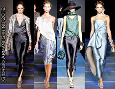 Giorgio Armani Spring 2012 ... makes use of luxurious fabrics and a dreamy blue palette