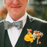 Mixed flower buttonhole