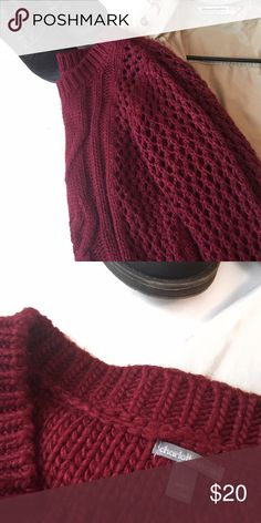 Charlotte Russe Cable Knit Sweater C H A R L O T T E  R U S S E  S W E A T E R  Never worn, no stains, no tears     † sz: large   † color: burgundy  ⠀† condition: like new   disclaimer:   ✗ i do not trade  ⠀✗ no lowballing ⠀   ✓ i'm open to reasonable offers ⠀   ✓ you save 20% when you bundle    follow me on instagram @moorrgannn_ Charlotte Russe Sweaters Crew & Scoop Necks