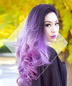 Lavender Hair Looks That Will Make You Grab Hair Dye Immediately Love the purple ombreLove the purple ombre Ombré Hair, Dye My Hair, Wave Hair, Ombre Hair Dye, Blonde Hair, Lavender Hair, Lavender Colour, Lavender Ideas, Coloured Hair