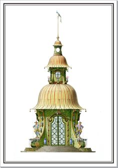 Pagoda at Rheinsberg Architecture Panel, Architecture Drawings, Architecture Details, English Architecture, Architecture Diagrams, Architecture Portfolio, Dragon House, Shell House, Chinoiserie Chic
