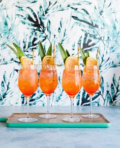 Tropical Rosé Aperol Spritz Cocktail www.pineappleandcoconut.com #DiscoverWorldMarket #Ad