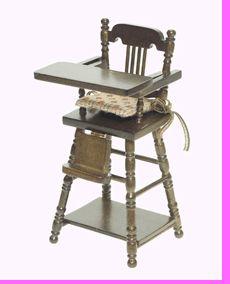 Love vintage wood high chairs