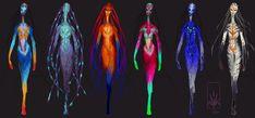 Catwalk-Alien Colour-Roughs by Nicksketch on deviantART