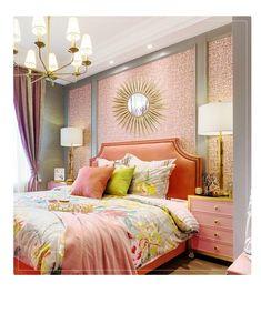 Pink Master Bedroom, Coral Bedroom, Bedroom Orange, Pink Bedrooms, Bedroom Colors, Dream Bedroom, Modern Bedroom, Romantic Bedrooms, Cottage Bedrooms