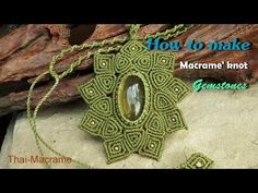 How to make a macrame knot stones with waxed cord (ถักเชือกเทียน) - YouTube