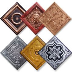 Buy Faux Tin Ceiling Tiles - 50+ Designs - Easy Glue Up Installation
