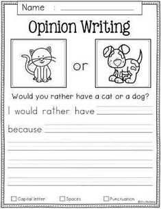Free Writing Prompts Free Writing Prompts contains 10 free pages of writing prompts worksheets. This product is suitable for kindergarten and first grade student Writing Sentences Worksheets, Kindergarten Writing Prompts, First Grade Worksheets, Teaching Writing, Kindergarten Worksheets, In Kindergarten, 2nd Grade Activities, Teaching Strategies, Preschool Worksheets