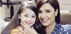Jasmine Abd Elaziz with her daughter  Egyptian actress