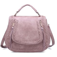 Urban Expressions Chloe Crossbody Bag Pink Bags No Size ($70) ❤ liked on Polyvore featuring bags, handbags, shoulder bags, pink, pink purse, pink cross body purse, crossbody purses, pink handbags and purple shoulder bag