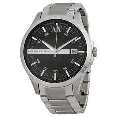 Armani AX Exchange AX2103 - Limited Edition @ http://www.designerposhwatches.co.uk/product/armani-ax-exchange-ax2103-black-dial-stainless-steel-mens-watch