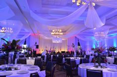 Fabric Swags/Spandex pipe & drape and custom chandelier