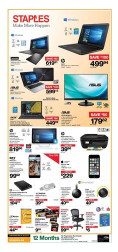 Staples Flyer September 28 - September 4, 2016 - http://olflyers.com/staples/staples-flyer.html