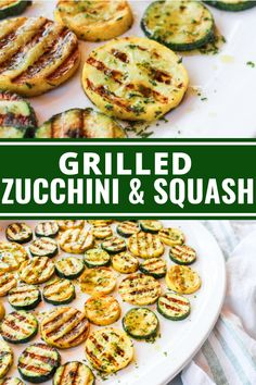 This Grilled Zucchini & Squash is unbelievably delicious thanks to an incredible (and incredibly simple) olive oil, herb, and seasoning mixture. Grilled Zucchini Squash, Grilled Vegetables, Zuchinni Recipes, Vegetable Recipes, Grilled Zucchini Recipes, Grilled Pizza, Veggie Food, Vegetable Dishes, Grilling Recipes