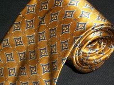 Vintage Ferrell Reed Tie Nordstrom Designer Name Brand 100% Silk Necktie Luxery Pattern Novelty Mens Neckwear Mint Condition