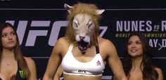Amanda Nunes aparece de leoa e faz encarada respeitosa com Ronda Rousey