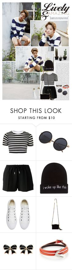 """I just realized that I feel great"" by angiielf ❤ liked on Polyvore featuring Oris, Topshop, Givenchy, Wet Seal, Converse, Lanvin and McQ by Alexander McQueen"