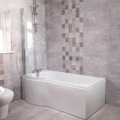 £199.00 Modern Left Hand 1675mm Shower Bath