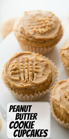 Peanut Butter Cupcakes, Peanut Butter Cookie Recipe, Peanut Butter Recipes, Cookie Recipes, Dessert Recipes, Cool Cupcake Recipes, Just Desserts, Delicious Desserts, Yummy Food