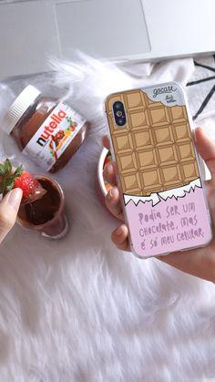 Peanut Butter Chocolate Bars, Chocolate Shop, Chocolate Nutella, Iphone Cases Disney, Iphone Cases Cute, Cell Phone Covers, Iphone Case Covers, Iphone 7 Tumblr, Capas Iphone 6