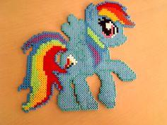 Rainbow Dash Hama Beads by HamaBeadsPonies on deviantart