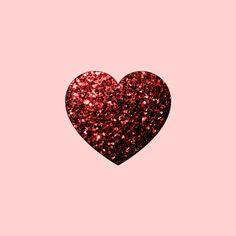 Red Glitter sparkles Heart Art Print by PLdesign