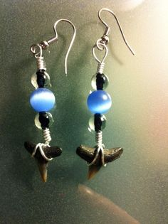 Sharks Teeth and Beaded Earrings by DisaDesigns on Etsy, $8.00