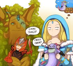 ~Treant Protector ~Dragon Knight ~Crystal Maiden ~Slark ~Dota 2 ~By keterok