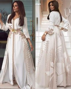 Image about fashion in Caftan 👑 by Yousra on We Heart It Elegant Dresses, Pretty Dresses, Beautiful Dresses, Arab Fashion, Islamic Fashion, Muslim Fashion, Fashion Women, Hijab Evening Dress, Evening Dresses