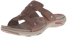 Merrell Womens Adhera Slide Sandal Brown 10 M US -- Click on the image for additional details.(This is an Amazon affiliate link and I receive a commission for the sales)