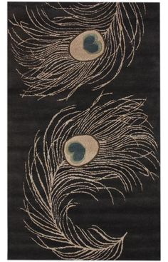 Satara Whispy Peacocks Charcoal Rug http://www.rugsusa.com/rugsusa/rugs/rugs-usa-whispy-peacocks/charcoal/200SBFG02A-508.html