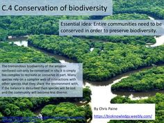 BioKnowledgy presentation on C.4 Conservation of biodiversity