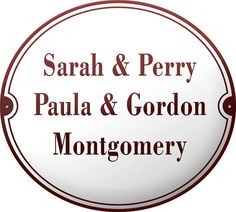 Enamel Name Plate 7.1X7.9 by enamelsign on Etsy, $189.00