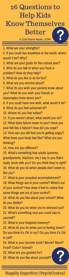 26 Questions to Help Kids Know Themselves Better | Happily Imperfect