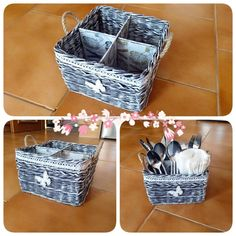 Wicker Baskets, Decorative Boxes, Home Decor, Interior Design, Home Interiors, Decoration Home, Woven Baskets, Interior Decorating, Home Improvement