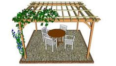 This step by step diy woodworking project is about pergola design. If you have a backyard and you want to add value to your property, we strongly recommend you to consider building a pergola or an arbor. Diy Pergola, Wooden Pergola Kits, Building A Pergola, Deck With Pergola, Modern Pergola, Covered Pergola Patio, Wedding Pergola, Pergola Curtains, Mosquito Curtains