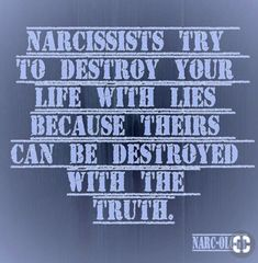 Actually the narcissist's life is already destroyed. They did it to themselves. They refuse to see the good in anything.