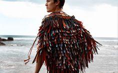 Te Rongo Kirkwood - Korowai (cloak) made of class.