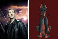The ninth Doctor Christopher Eccleston as a doberman is ready to fend off any attacks from aliens.