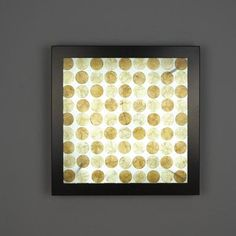 WPT Design V-II 4 Light Wall Sconce Size: 24x24, Shade Color: StructuredBamboo