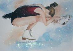 spiral figure skating drawings - Google Search