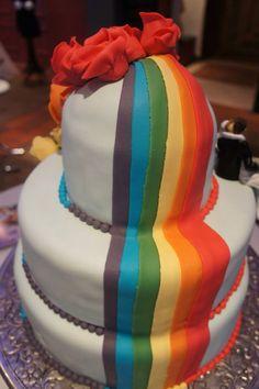 Bruidstaart regenboog