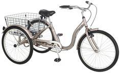 9dfe7e8b5eb Schwinn Meridian Adult 26-Inch 3-Wheel Bike Single Speed Road Bike, Speed
