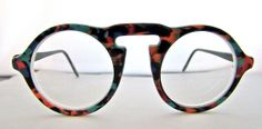 Cool 80s 90s Round lens Eyeglasses // by ifoundgallery on Etsy, $115.00