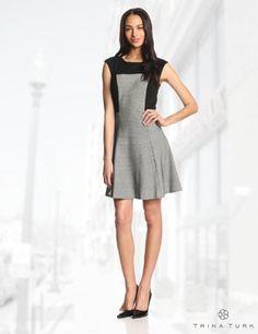 Trina Turk Women's Neroli Honeycomb-Knit Fit-And-Flare Dress