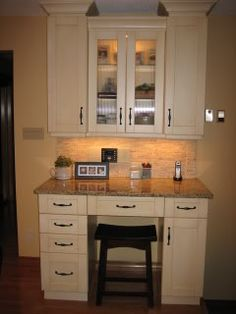 ... Kitchen work station on Pinterest Kitchen desks, Built in desk and