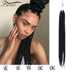Cheapest 24inch 100g Box Braids Hair Crochet Multi-Color Synthetic Crochet Braid Hair Fashion Twist Braid Jumbo Hair Bundles