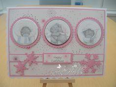 Pickwick Papercrafting: More Tatty Teddy Christmas Cards Homemade Christmas Cards, Homemade Cards, Friends Wedding Card, 1st Birthday Cards, Bear Card, Snowflake Cards, Kids Cards, Baby Cards, Tatty Teddy